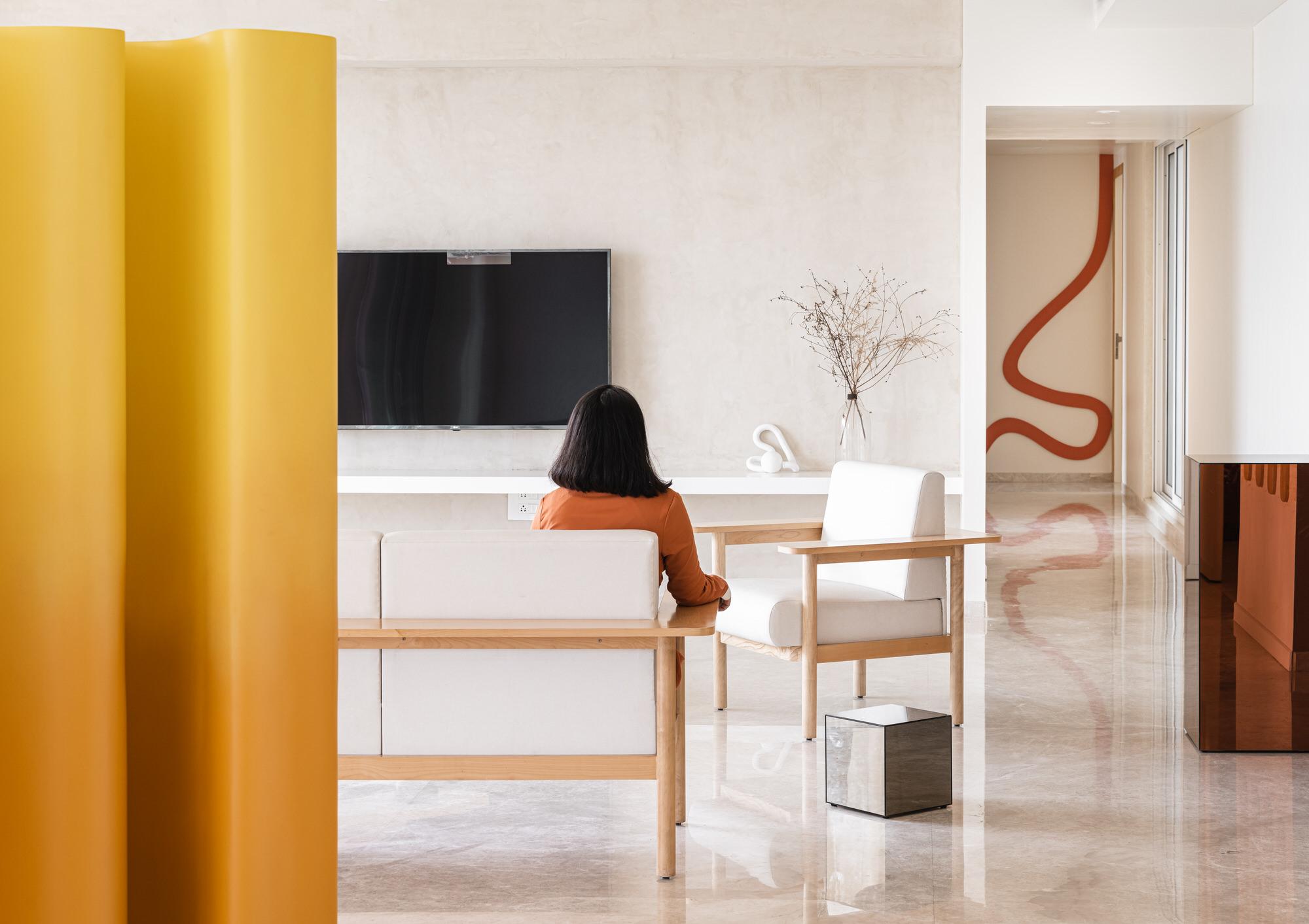 The Act Of Quad Mumbai Apartment Interior Design Yellowtrace 03