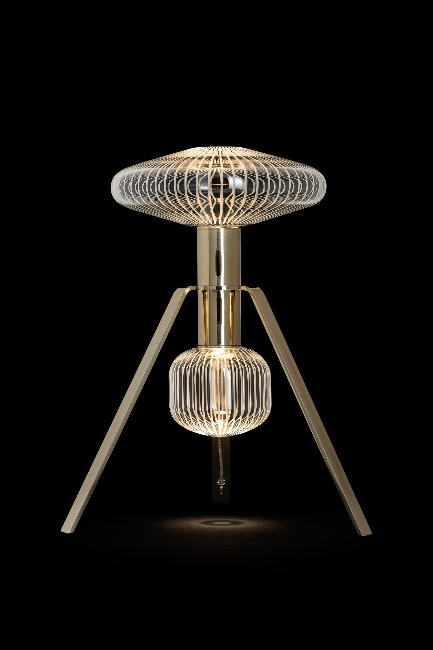 Yabu Pushelberg Lasvit Cipher Small Table Lamp Yellowtrace 03