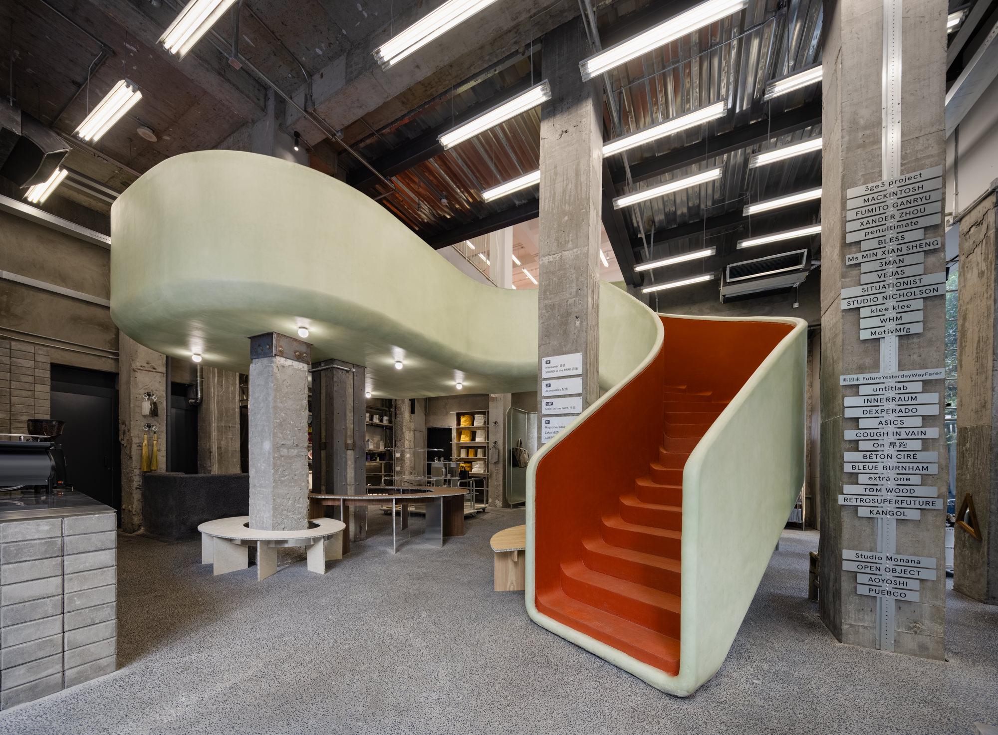 AIM Architecture Blurs Indoor & Outdoor Boundaries at this Mini Department Store in Shanghai.
