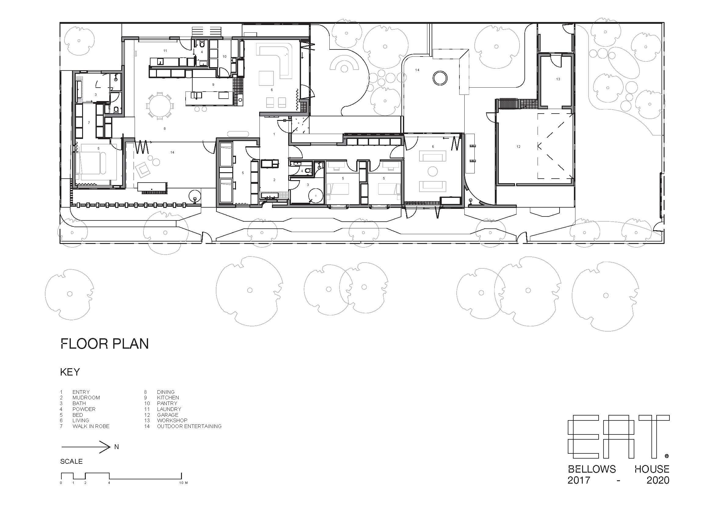 Architects Eat Bellows Beach House Flinders Masonry Architecture Floor Plan Yellowtrace