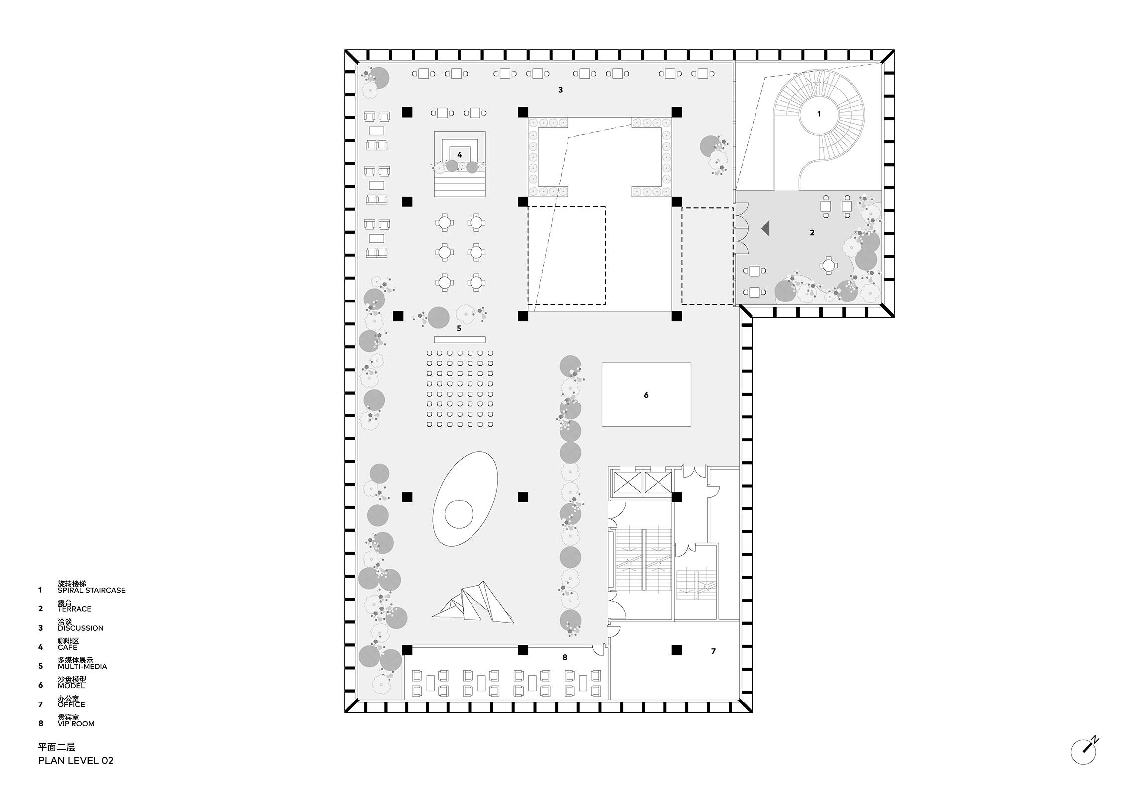 Clou Architects Sanya Farm Lab Co Life Level 02 Plan Yellowtrace
