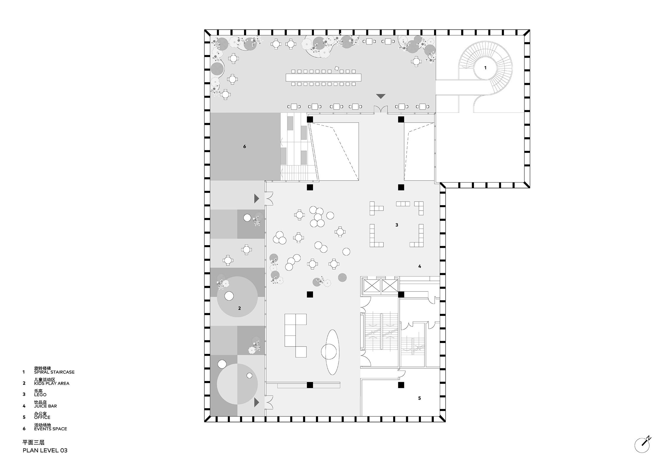 Clou Architects Sanya Farm Lab Co Life Level 03 Plan Yellowtrace