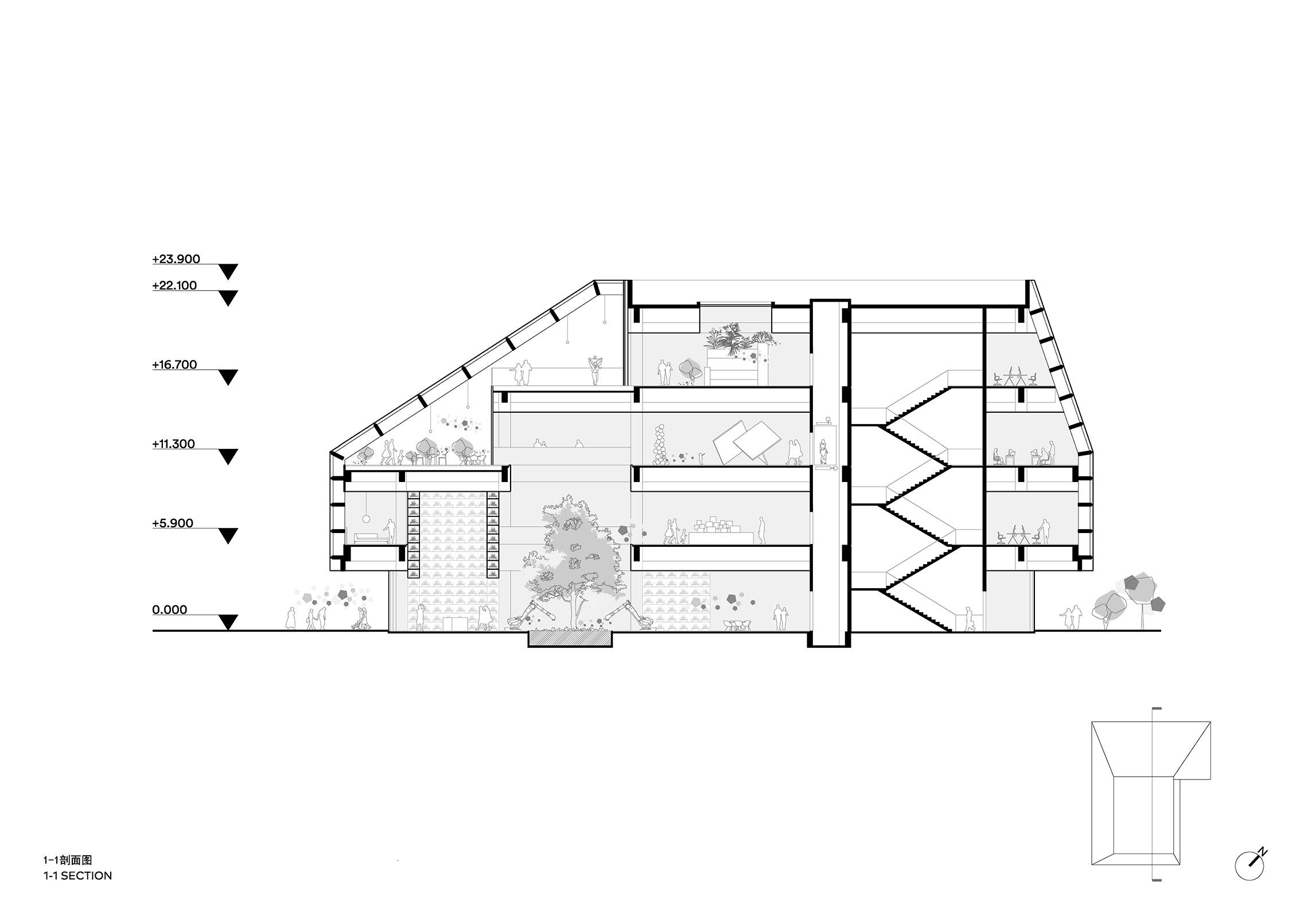 Clou Architects Sanya Farm Lab Co Life Section Yellowtrace