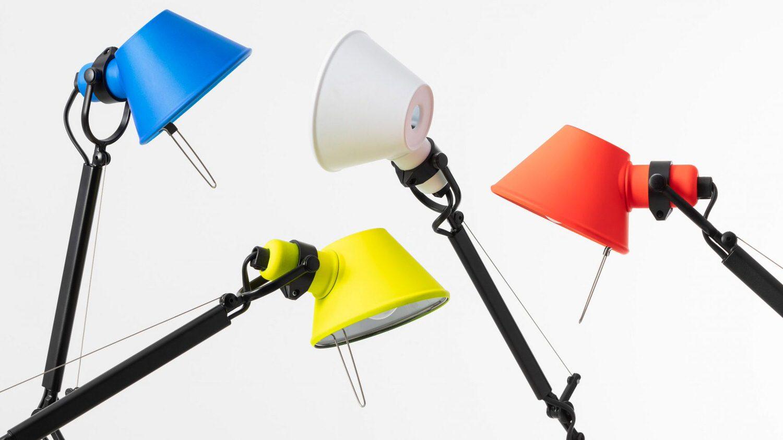 Artemide Tolomeo Bicolour Desk Lamps Yellowtrace