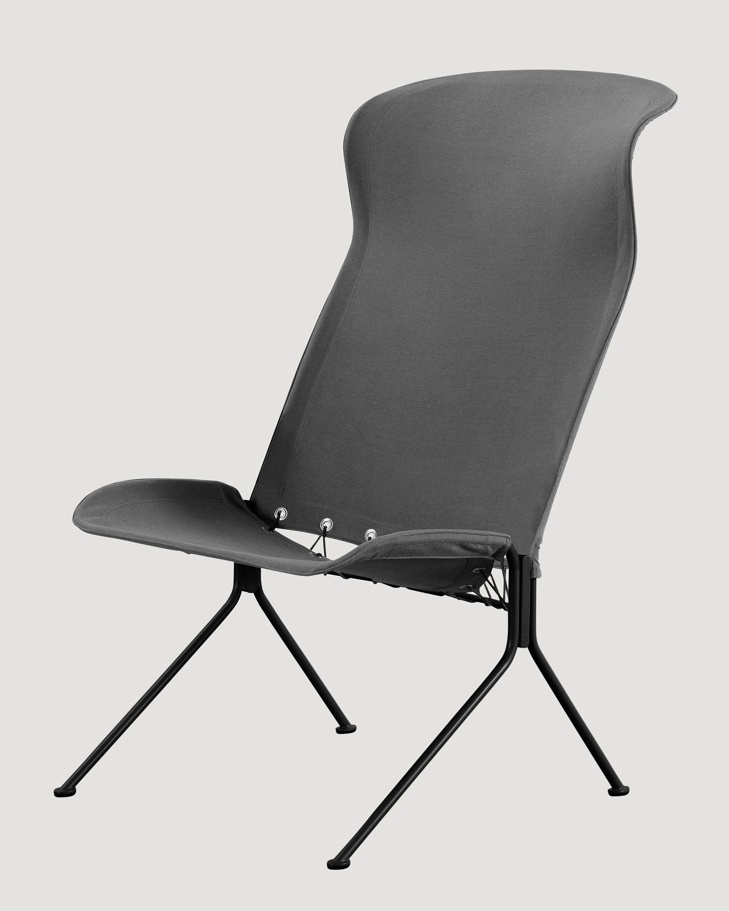 Tait Zephyr Lounger High Back Grey Yellowtrace