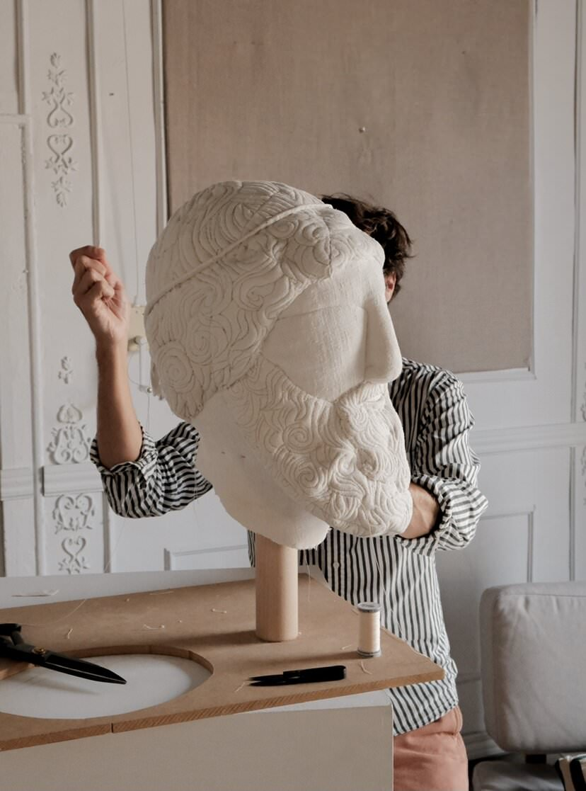 Sergio Roger Making Of Textile Ruins Soft Sculpture Yellowtrace