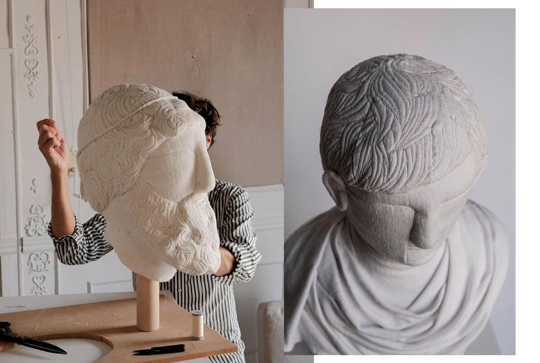 Sergio Roger Textile Ruins Soft Sculptures Yellowtrace